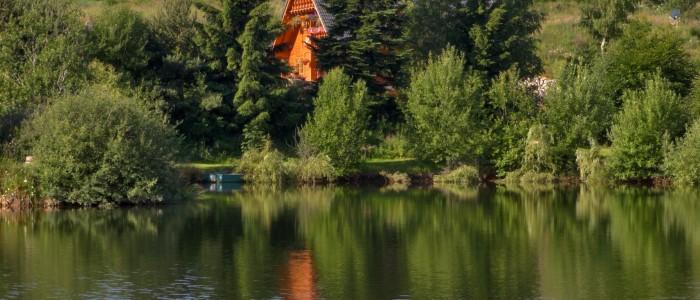 la Colombe vu de l'étang